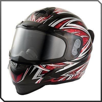 Polaris Red AF 20 Full Face Snowmobile Helmet- 2Xlarge