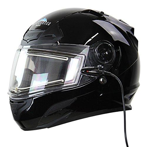 Snow Master TS-44 Black Full Face Snowmobile Helmet - Large