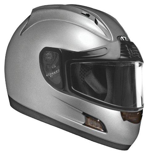Vega Altura Full Face Snowmobile Helmet Silver Small