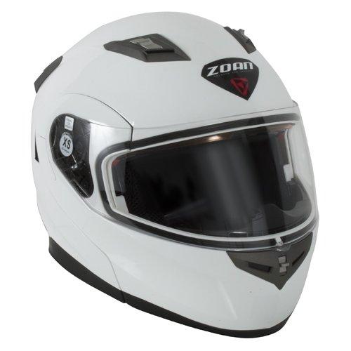 Zoan Flux 41 Snow Gloss White Electric Lens Modular Full Face Snowmobile Helmet Large