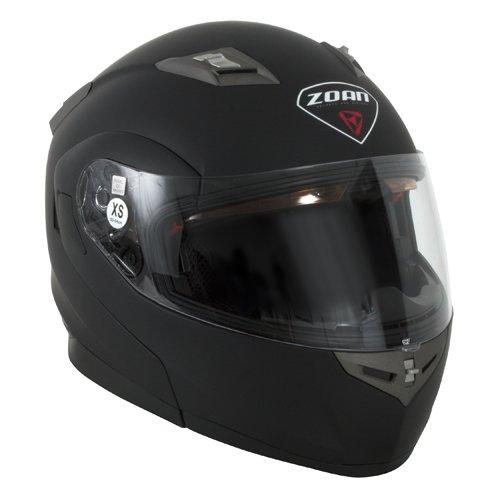 Zoan Flux 41 Snow Matte Black Electric Lens Modular Full Face Snowmobile Helmet Small