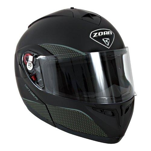 Zoan Optimus Snow Matte Black Electric Lens Modular Full Face Snowmobile Helmet X-Small