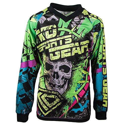 KO Sports Gear Motocross Jersey Skull Design Youth Small
