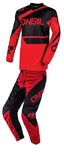 ONeal Mens Element Racewear Motocross Jersey Pants Combo BlackRed