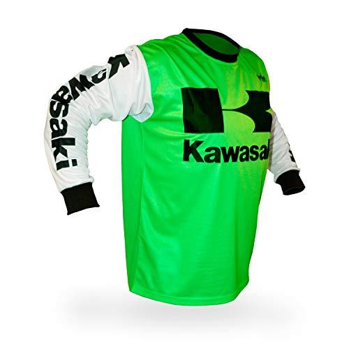Reign VMX Kawasaki Vintage Style Motocross Jersey - Size XX-Large