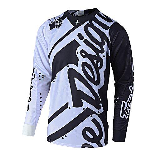 Troy Lee Designs Mens Off-Road Motocross SE Shadow Jersey WhiteBlack Large