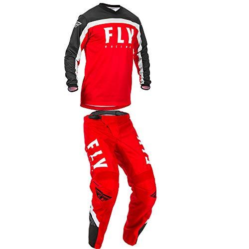 mxgear Fly Racing Mens F-16 Motocross Jersey Pants RedBlackWhite
