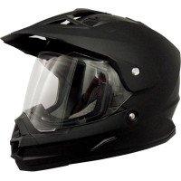 AFX FX-39 Unisex-Adult Full-Face-Helmet-Style Dual Sport Helmet Flat Black Large
