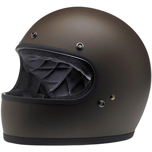Biltwell Unisex-Adult Full-Face-Helmet-Style Flat Gringo DOT Certified Full-Face Helmet Chocolate Large