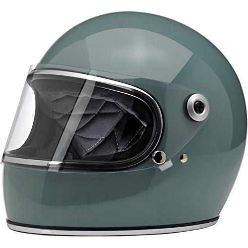 Biltwell Unisex-Adult Full-Face-Helmet-Style Gringo S DOT Certified Full-Face Helmet Agave Blue Large