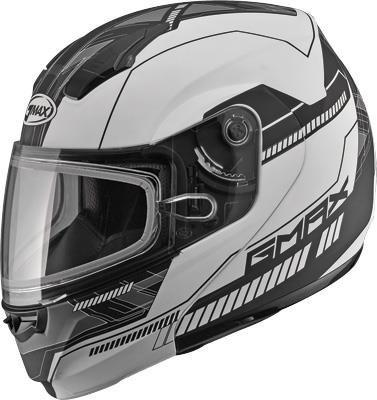 GMAX unisex-adult full-face-helmet-style Helmet 04 Snow Modular Flat WhiteBlack XX-Large