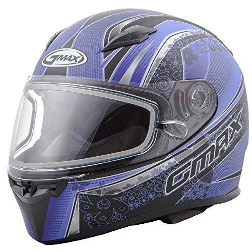 GMAX unisex-adult full-face-helmet-style Helmet Ff49 Snow Elegance  Flat BlackPurple Large