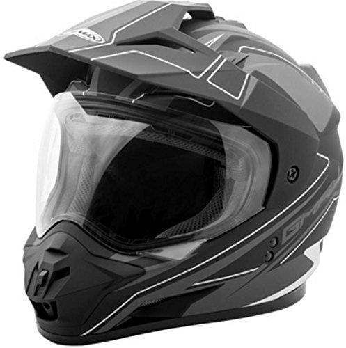 GMAX unisex-adult full-face-helmet-style Helmet Gm11 Expedition Flat BlackDark Silver Large
