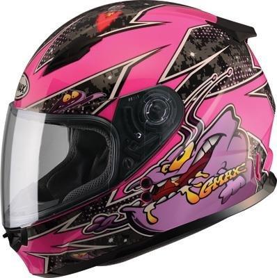 GMAX unisex-adult full-face-helmet-style Helmet Gm49Y Youth Street Alien PinkPurple Youth Medium