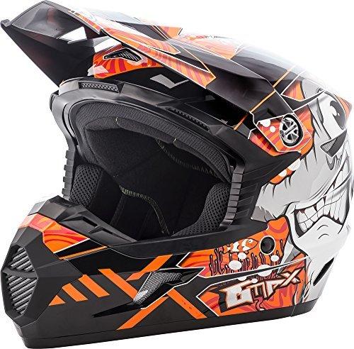 GMAX unisex-adult full-face-helmet-style Helmet Mx46 Hooper BlackOrange Youth Large