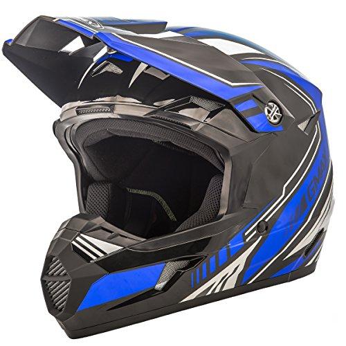 GMAX unisex-adult full-face-helmet-style Helmet Mx46 Uncle  BlackBlue Medium