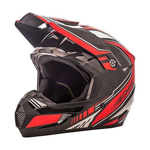 GMAX unisex-adult full-face-helmet-style Helmet Mx46 Uncle  BlackRed Large