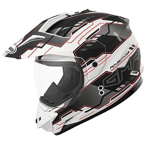 GMAX unisex-adult full-face-helmet-style Visor Gm11D 15 Adventure Tc15 WhiteBlackRed One Size