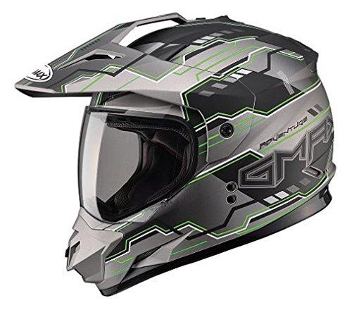 GMAX unisex-adult full-face-helmet-style Visor Gm11D 15 Adventure Tc23 Tt Hi-Vis Green One Size