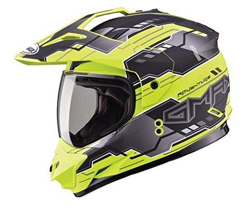 GMAX unisex-adult full-face-helmet-style Visor Gm11D 15 Adventure Tc24 Tt Hi-Vis Yellow One Size