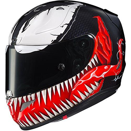 HJC Helmets Marvel Unisex-Adult Full-Face Helmet BlackRedWhite Medium RPHA-11 Pro Venom MC-1