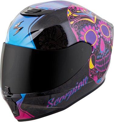 Scorpion unisex-adult full-face-helmet-style Sugar skull Helmet BlackPink Medium 1 Pack