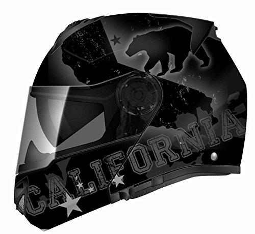 TORC  unisex-adult full-face-helmet-style TB27 Modular Helmet with Integrated Blinc Bluetooth Republic