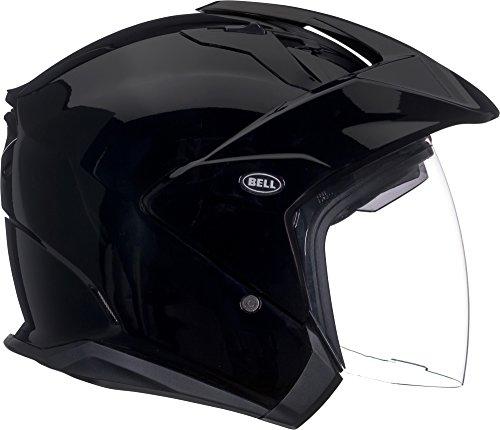 Bell Mag-9 Open Face Motorcycle Helmet Solid Gloss Black Medium