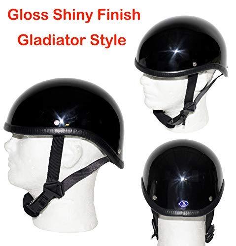 Shiny Black Gladiator Novelty Motorcycle Helmet Size SMLXL2XL L BLACK