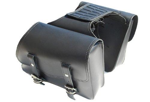 La Rosa Harley-davidson Sportster Xl Black Leather Throw Over Left & Right Saddlebags