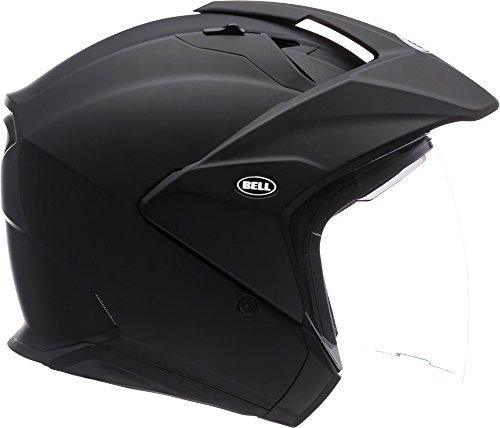 Bell Mag-9 Open Face Motorcycle Helmet Solid Matte Black Medium