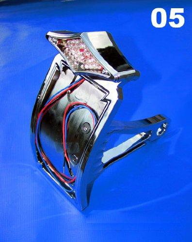 Chrome Billet License Plate Bracket and Side Mount Taillight for Harley-Davidson
