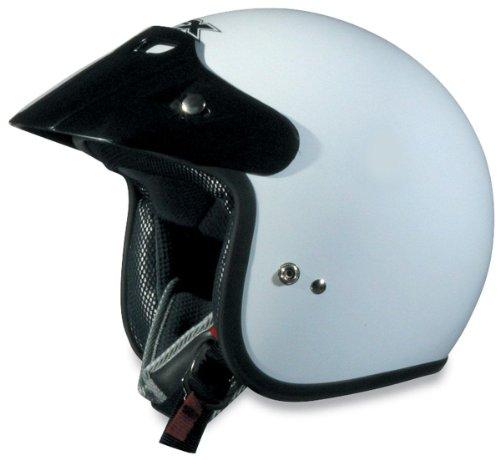 AFX FX-75 Unisex-Adult Half-Size-Helmet-Style Helmet White Small