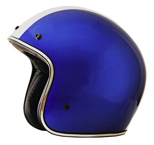 AFX FX-76 Unisex-Adult Half-Size-Helmet-Style Helmet Shelby Blue Medium