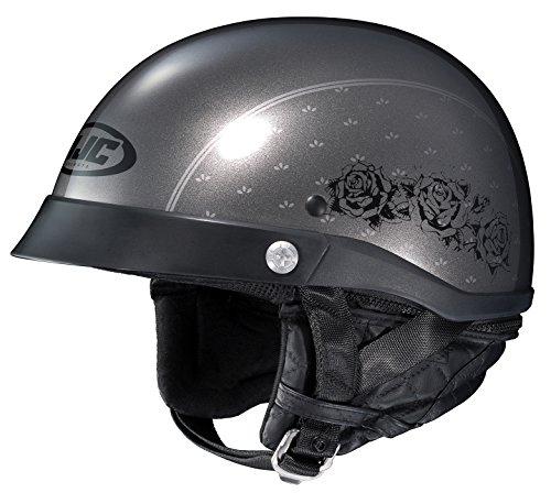HJC Helmets Unisex-Adult Half-Size-Helmet-Style CL-Ironroad MC-5 Motorcycle Helmet GreyBlack X-Small