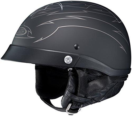 HJC Helmets Unisex-Adult Half-Size-Helmet-Style CL-Ironroad Show Boat MC-5F Motorcycle Helmet Matte BlackGrey Small