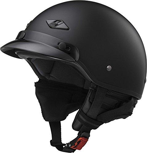 LS2 Helmets Unisex-Adult Half-Size-Helmet-Style Bagger Helmet Matt Black Large