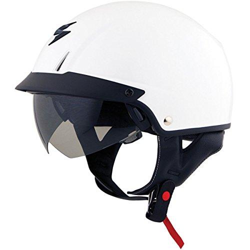 ScorpionExo Unisex-Adult half-size-helmet-style EXO-C110 Helmet WhiteLarge 1 Pack