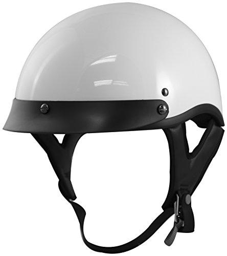 VCAN unisex-adult half-size-helmet-style V531 Half Helmet Gloss WhiteXx-Large 1 Pack