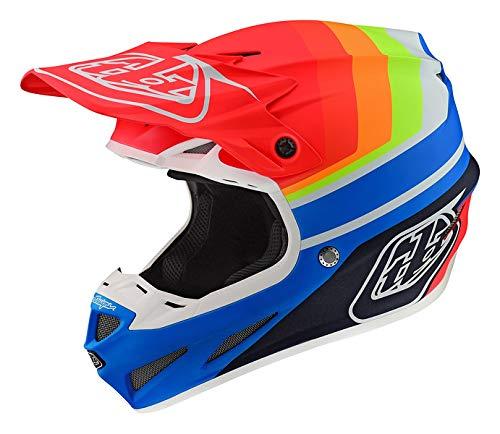 Troy Lee Designs Adult Offroad Motocross Composite Mirage SE4 Helmet Large BlueRed