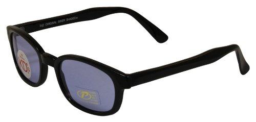 Pacific Coast Original KDs Biker Sunglasses Black FrameBlue Lens