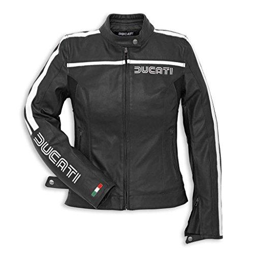 Ducati 981022644 80s Leather Jacket - Womens - Black - Size 44