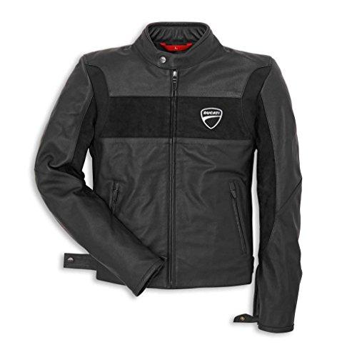 Ducati Company 981019005 Leather Riding Jacket - Black - Large