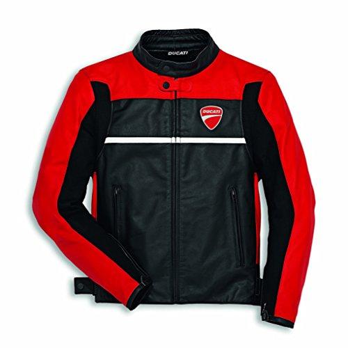 Ducati Mens Company C2 Leather Jacket - RedBlack 50