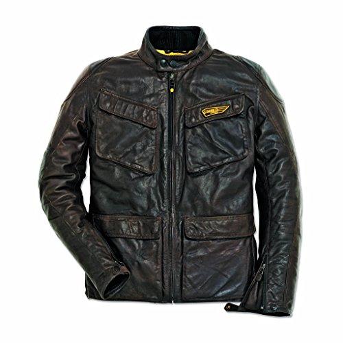 Ducati Mens Scrambler Quattrotasche Leather Jacket 52