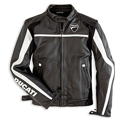 Ducati Twin Leather Jacket Mens Euro Size 58