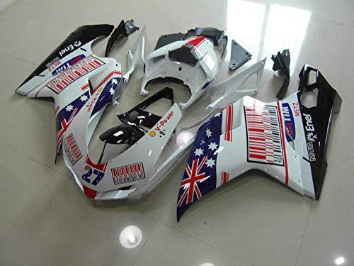 Moto Onfire Motorcycle Plastic Fairings Kits Bodywork For 07 08 Ducati 1098 848 1198 2007 2008 2009 2010 2011 2012 White Black Ducati 1098 Fairing Kit