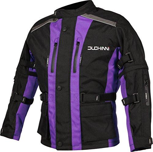 DUCHINNI Unisex Child Motorcycle Jacket Purple Small