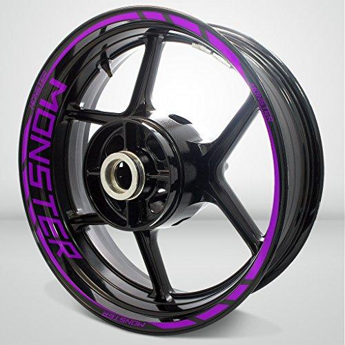 Matte Purple Motorcycle Rim Wheel Decal Accessory Sticker For Ducati Monster
