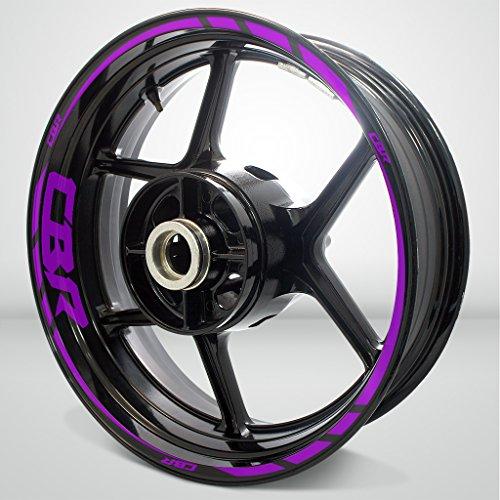 Matte Purple Motorcycle Rim Wheel Decal Accessory Sticker For Honda CBR